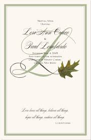 wedding bulletins exles fall wedding programs autumn theme wedding programs fall wedding