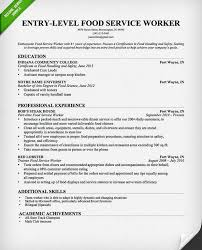 Resume Examples For Food Service by Projects Inspiration Food Service Worker Resume 3 Food Service