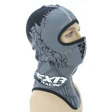 fxr racing black shredder balaclava 2712 10013 snowmobile