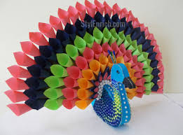 Craft For Home Decor Diy Project Ideas Make Paper Peacock Craft For Home Decor