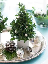 decor cheap christmas centerpieces with tree and balls for home