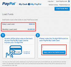load prepaid card with credit card load funds to paypal cash2