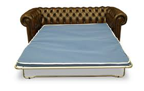 attractive chesterfield sofa bed with richmond leather