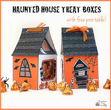 happy halloween banner free printable halloween haunted house treat box bugaboocity