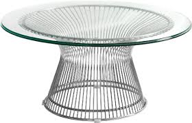 Coffee Table With Metal Base by Santana Series Contemporary Glass Coffee Table With Metal Base By
