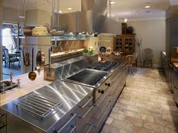 interior photo of plate steel countertops with cooktop undermount