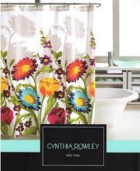 amazon com cynthia rowley fiorina floral fabric shower curtain