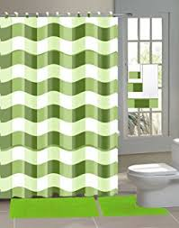 Lime Green Bathroom Accessories by Amazon Com Chenille Collection 18 Piece Bathroom Set 2 Rugs Mats