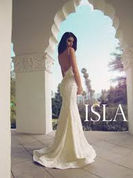 backless lace wedding dress lauren elaine isla
