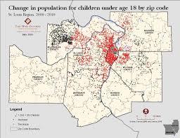 Stl Map Children Of The St Louis Region Vision For Children At Risk