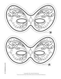 mardi gras jester mask color printable mask maske