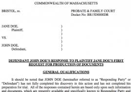 discovery in massachusetts divorce document templates