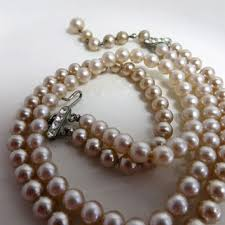pearl necklace costume images Shop vintage costume jewelry pearl necklaces on wanelo jpg