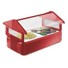 Little Tikes Toy Chest Carlisle 660005 Six Star Red 4 U0027 Tabletop Food Salad Bar With