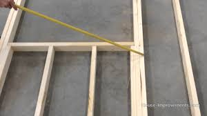 How To Build A Barn Door Frame How To Frame A Window And Door Opening Youtube
