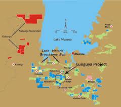Lake Victoria Map Lunguya Project Tanzanian Royalty Exploration Corporation
