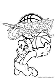 basketball coloring pages nba cleveland cavaliers nba coloring pages