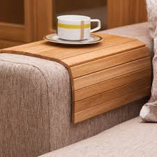 fancy handmade wooden oak sofa tray table good ideas pinterest