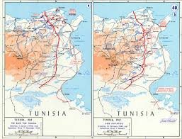 Map Of Europe 1942 by Map Of The Race For Tunisia November 1942 February 1943