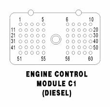 dodge cummins engine codes 03 dodge cummins ecm pin layout diagram color code of wires to