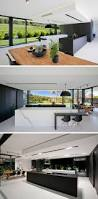 design of the kitchen in this minimalist kitchen fine matt black laminate and marble