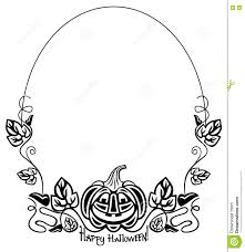 halloween black and white clipart black and white oval frame with halloween pumpkin silhouette