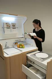 Compact Kitchen Units by Kenchikukagu Foldable Rooms Interiors And Room