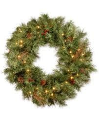 national tree company 3 glistening pine teardrop swag with pine