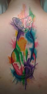 cat watercolor tattoo fashion for girls photos pictures and