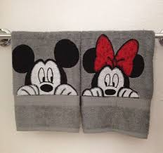 Mickey And Minnie Curtains by Peekaboo Mickey And Minnie Bathroom Hand Towels By