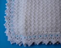clouds baby blanket free crochet pattern