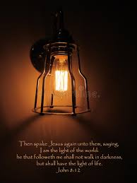 light in the darkness verse jesus light of world bible verse stock image image of world shall