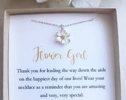 best flower girl gifts flower girl necklace etsy