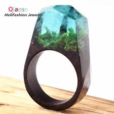 natural rock rings images Qiaose handmade secret wooden resin ring with natural scenery jpg