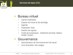bureau virtuel bordeaux 2 dimensions stratégiques d un environnement numérique de travail