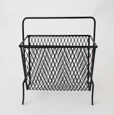 mid century wire mesh magazine rack u2013 den møbler