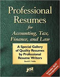 professional resumes for accounting tax finance and law a