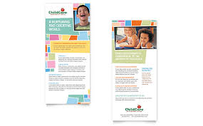 preschool kids u0026 day care rack card template word u0026 publisher