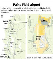 Alaska Airlines Flight Map by United Airlines Will Offer Flights From Everett U0027s Paine Field In