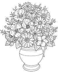 flowers in a vase flowers coloring pages for kids to print u0026 color