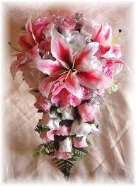 Wedding Flowers Pink Silk Wedding Flowers Silk Bridal Bouquets