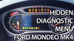 ford mondeo mk4 hidden diagnostic menu with needle sweep lcd