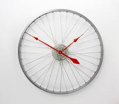 bicycle wheel clock large wall clock custom colours bike