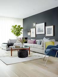 Dark Modern Living Room Design With Statement Black Wall M House - New modern living room design