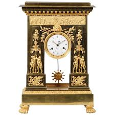Large Silver Mantel Clock Large And Important Empire Period Ormolu Mantel Clock By