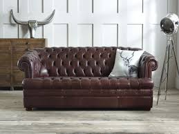 Chesterfield Leather Sofa Bed Furnitures Leather Chesterfield Sofa New Baron Brown Leather