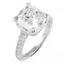 engagement ring cushion cut 4 00 ct cushion cut engagement ring