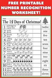 free worksheets preschool christmas worksheet free math