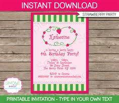 printable birthday invitations strawberry shortcake strawberry shortcake party invitations template strawberry
