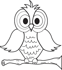 Free Printable Cartoon Owl Coloring Page For Kids Owl Coloring Ideas
